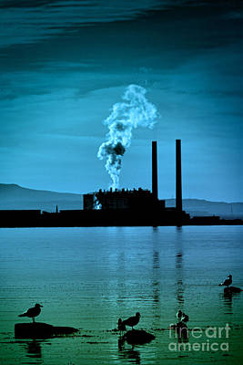 Power Station Silhouette Art Print