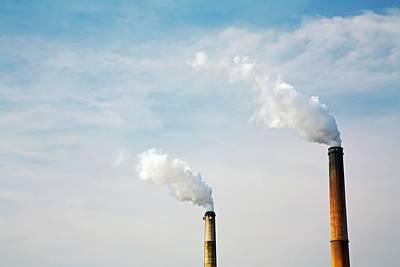 Power Station Smoke Stacks Art Print