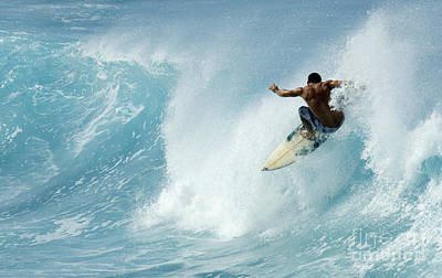 Laird Hamilton Photograph - Surfing Power Struggle by Bob Christopher