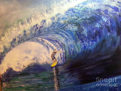 Phthalo Blue Painting - Power Surfing by Ordy Duker