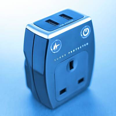Protector Photograph - Power Surge Protector by Science Photo Library