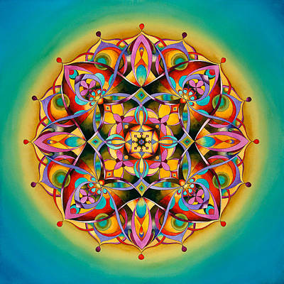 Power - Throat Chakra Mandala Original by Vikki Reed
