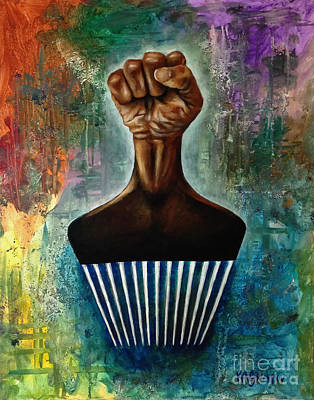Painting - Power To The Afro Pick by Ka-Son Reeves