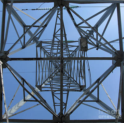 Photograph - Power Tower. Square Format. by Ausra Huntington nee Paulauskaite