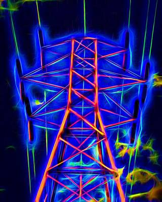 Photograph - Power Tower To Glow by Mike Flake
