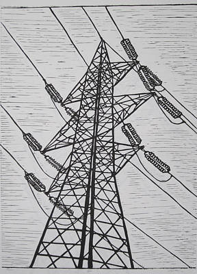 Drawing - Power by William Cauthern