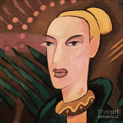 Painting - Power Woman by Lutz Baar