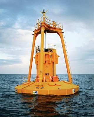 Ocean Power Photograph - Powerbuoy by Ocean Power Technologies/us Department Of Energy