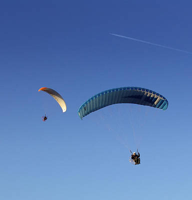 Powered Parachute Art Print by John Swartz