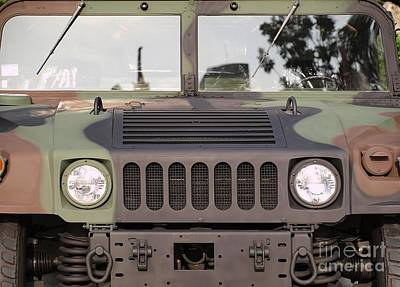 Powerful Army Off Road Vehicle Art Print