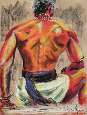 Pastel - Powerful Back Of A Unique Man by Asha Carolyn Young