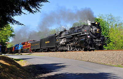 Powerful Nickel Plate Berkshire Art Print by Matthew Chapman