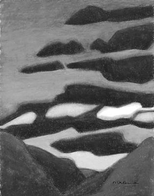 Painting - Powerful Skies Shine Black And White by Carrie MaKenna