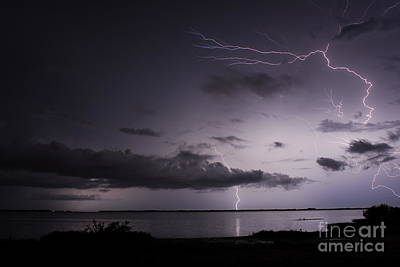 Lightning Photograph - Powerful Tranquility by Quinn Sedam