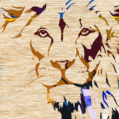 Big Cat Mixed Media - Powerful Wildlife Tiger by Marvin Blaine