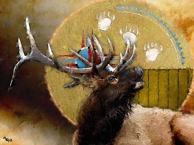 Painting - Powerfull Wapiti by Roger D Hale