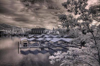 Nirvana - Powerhouse Marina in Infrared 1 by Lee Santa