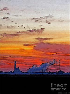 Photograph - Powerplant Sunrise Art by Debbie Portwood