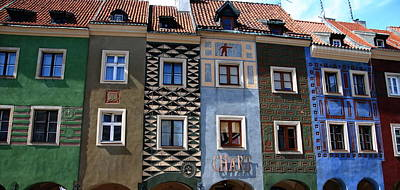 Photograph - Poznan Town Houses by Jacqueline M Lewis
