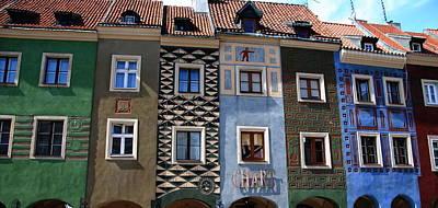 Poznan Town Houses Art Print by Jacqueline M Lewis