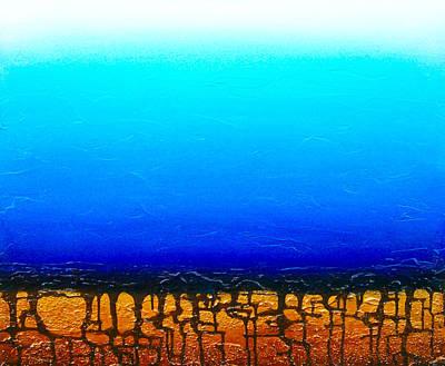 Oil Slick Painting - Pozos De Agua by Alexandra Hunter
