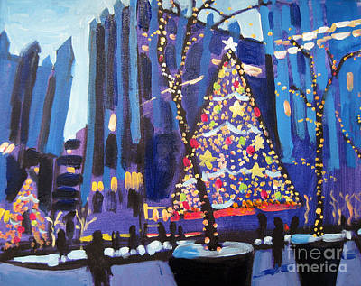 Pittsburgh Painting - Ppg Plaza Holidays by Tara Zalewsky