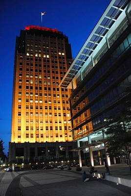 Photograph - Ppl Corporate Plaza - Allentown Pa Tall View by Jacqueline M Lewis
