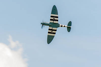 Photograph - Pr Spitfire In D-day Stripes by Gary Eason
