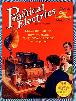 Practical Electrics Front Cover Print by Universal History Archive/uig
