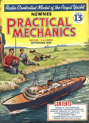 Practical Mechanics 1950s Uk Diy Boats Art Print by The Advertising Archives