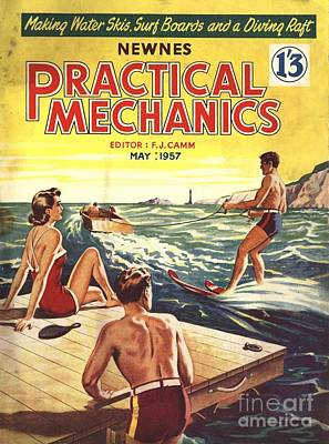 Drawing - Practical Mechanics 1957 1950s Uk Water by The Advertising Archives