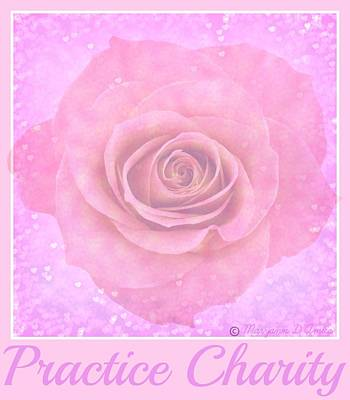 Digital Art - Practice Charity Rose by Maryann  DAmico