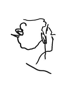 Drawing - Practice Matisse  by Jerry Cordeiro
