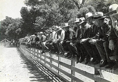 Photograph - Practice Rodeo 1935 by Patricia  Tierney