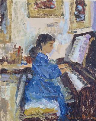 Piano Photograph - Practising, 1994 by Patricia Espir