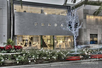 Photograph - Prada Rodeo Drive Beverly Hills Ca by David Zanzinger