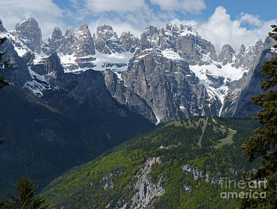 Photograph - Pradel And  Brenta Peaks - Italy by Phil Banks