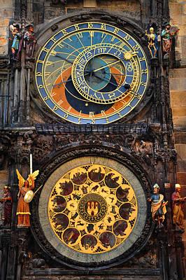 Photograph - Prague Astronomical Clock by Jenny Rainbow