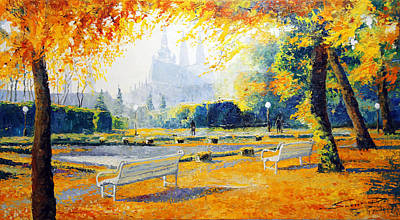 Prague Autumn In The Kralovska Zahrada Art Print by Yuriy Shevchuk