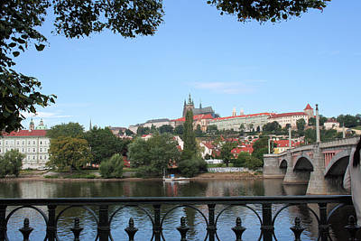 Photograph - Prague Castle Across The Vltava River by Gordon Elwell