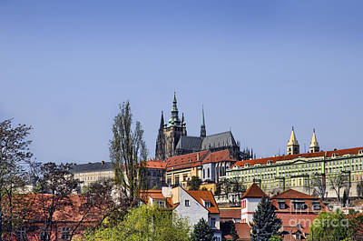 Photograph - Prague Castle And St Vitus by Brenda Kean