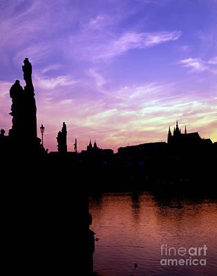 Prague Castle And The Vitava River Art Print by Rafael Macia