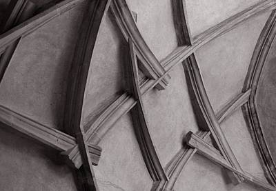 Photograph - Prague Castle Ceiling Detail by Michael Kirk