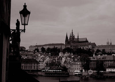 Photograph - Prague Castle From Charles Bridge by Michael Kirk