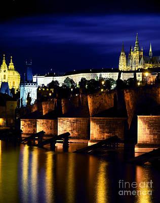 Prague Castle, Vltava River, Prague Art Print by Rafael Macia