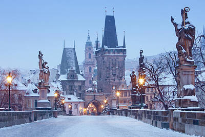 Prague Towers Photograph - Prague - Charles Bridge Tower Nad St by Panoramic Images