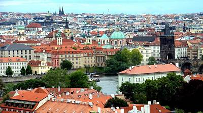 Photograph - Prague Cityscape by Caroline Stella