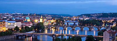 Photograph - Prague Cityscape Panorama by Barry O Carroll