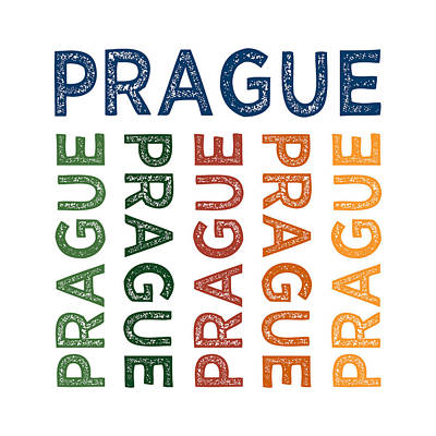 Prague Cute Colorful Art Print by Flo Karp