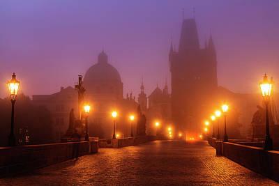 Prague, Czech Republic, Charles Bridge Art Print by B&m Noskowski